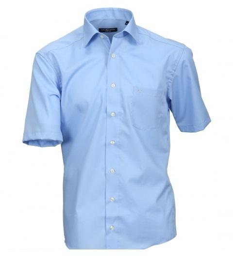 Cotton Island grote maat overhemd uni blauw