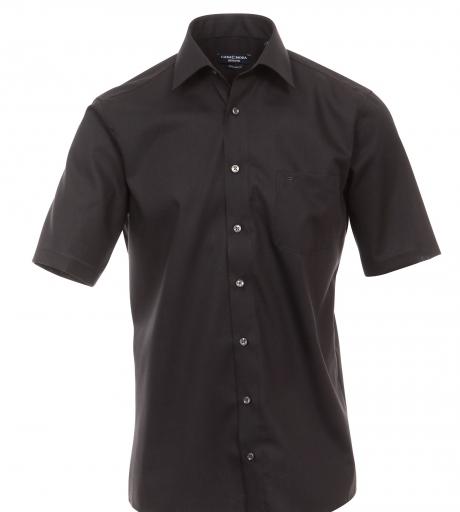 Cotton Island grote maat overhemd uni zwart
