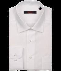Grote maat lange mouw overhemd uni wit Cotton Island