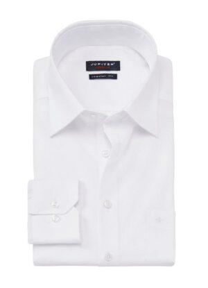 Jupiter extra lange mouw overhemd mouwlengte7 wit