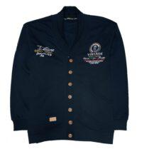 Gabbiano grote maat sjaal kraag vest navy