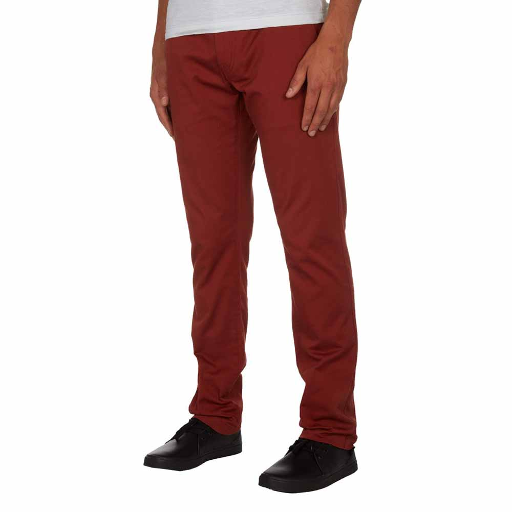 Pionier grote maat stretch chino rood model Robert