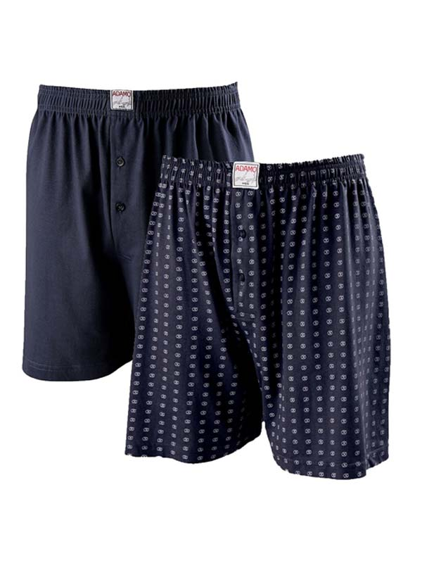 Adamo grote maat boxer shorts donkerblauw