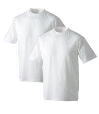 Adamo t-shirt grote maat korte mouw ronde hals wit
