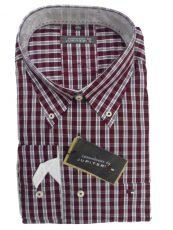 jupiter overhemd bordeaux rood witte ruit