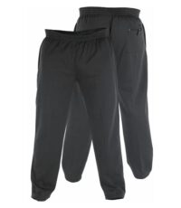 Duke Rockford grote maat joggingbroek zwart model Albert
