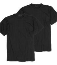 Grote maten t-shirts korte mouw ronde hals zwart Redfield
