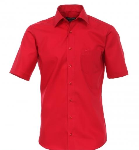 Grote maat overhemd uni rood Cotton Island