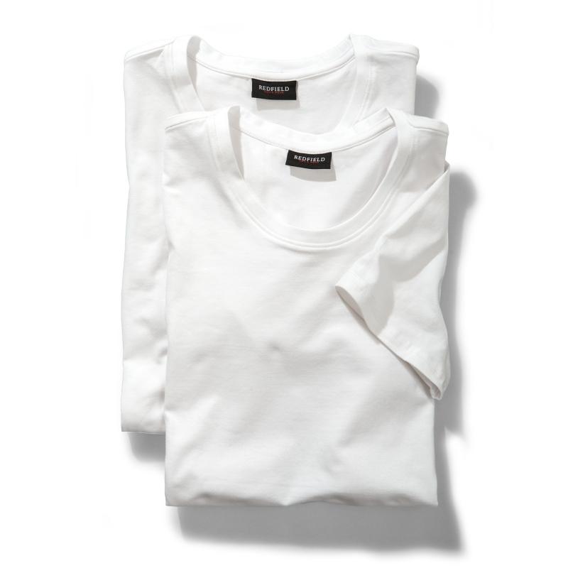 Redfield grote maat t-shirts korte mouw wit ronde hals