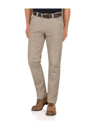 Pionier grote maat zomer stretch jeans lichtbeige Peter