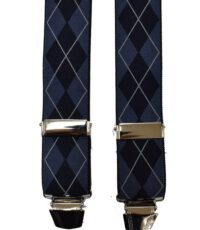 Dobrefa extra lange bretels blauw en donkerblauw diagonaal