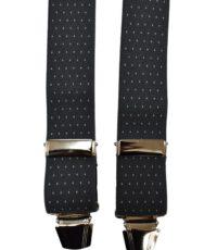 Dobrefa extra lange bretels grijs met wit stipje