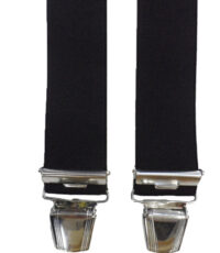 Dobrefa extra lange bretels uni zwart 130cm lang