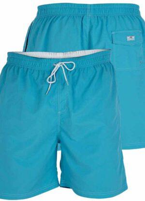 D555 grote maat zwemshort lichtblauw en wit
