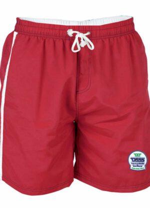 D555 grote maat zwemshort rood en wit