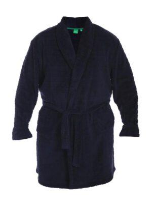 D555 grote maat kamerjas donkerblauw