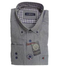 Casa Moda 72cm overhemd extra langemouw jeans melange button down
