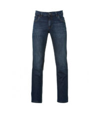 Pionier grote maat jeans dark stonewashed light used model Thomas