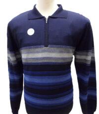 Danilo grote maat trui marine grijs en blauwebreedte streep