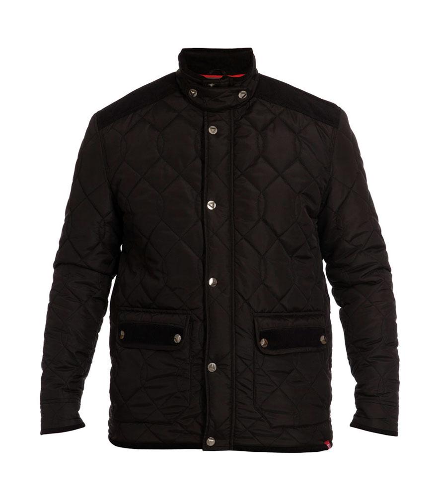 D555 grote maat 3/4 winter jack zwart griot patroon