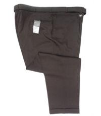 M.E.N.S grote maat stretch pantalon donkerbruin