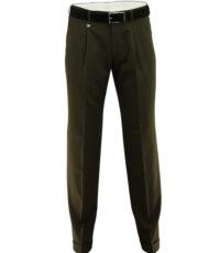 Club of comfort lengte maat stretch bandplooi pantalon bruin