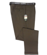 Club of comfort lengte maat stretch bandplooi pantalon bruin
