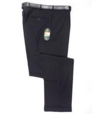 Club of comfort lengte maat stretch bandplooi pantalon donkerblauw