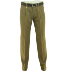 Club of comfort lengte maat stretch bandplooi pantalon lichtbeige