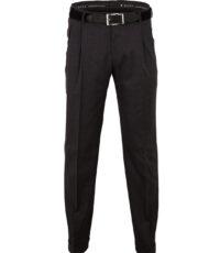 Club of comfort lengte maat stretch bandplooi pantalon antracietgrijs