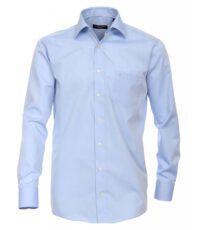Grote maat Casa Moda lange mouw overhemd uni lichtblauw strijkvrij