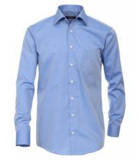 Grote maat Casa Moda lange mouw overhemd uni blauw strijkvrij