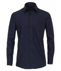Grote maat Casa Moda lange mouw overhemd uni donkerblauw strijkvrij