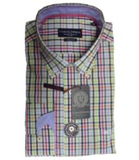 Casa Moda overhemd 72cm extra lange mouw gekleurde ruit buttondown