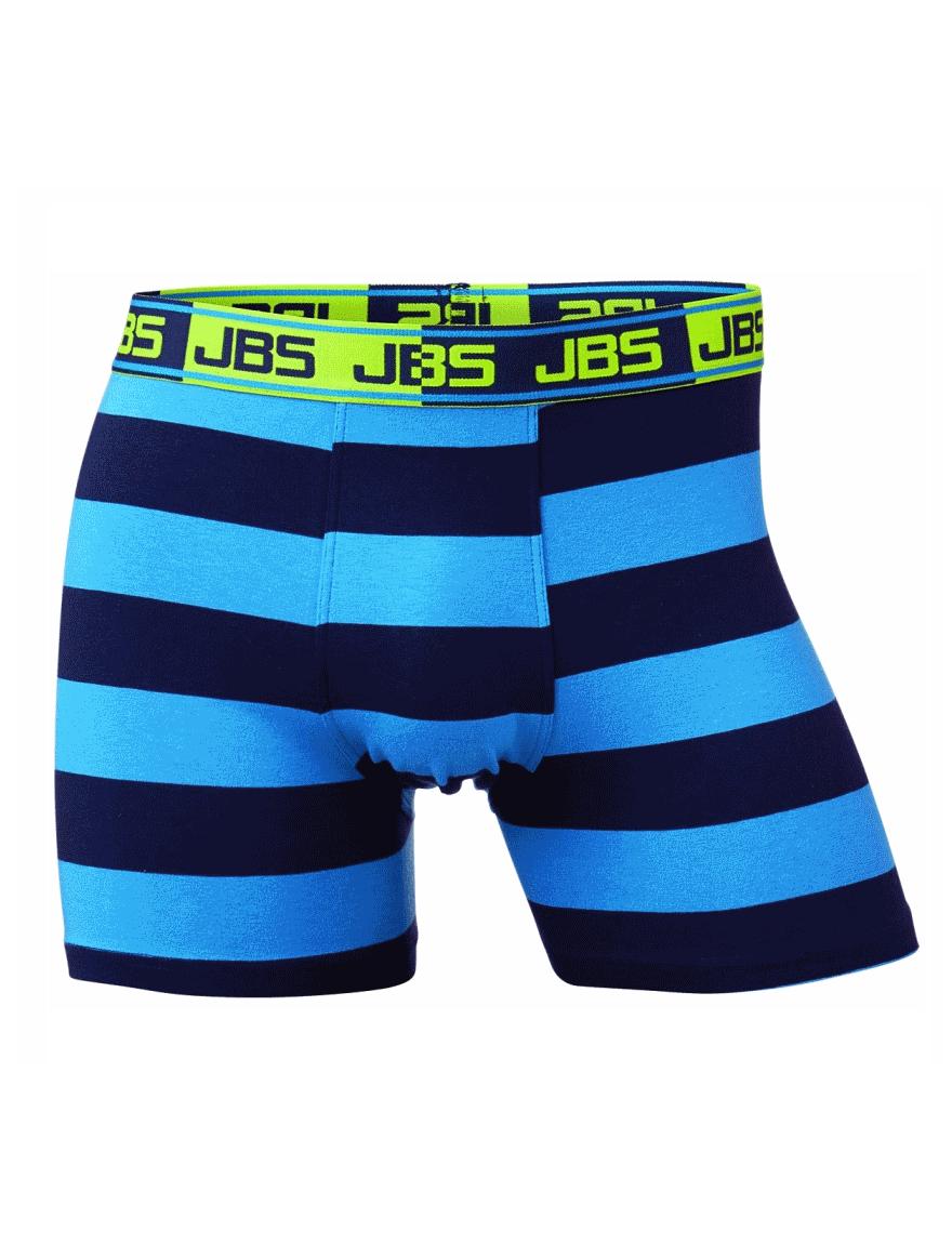 JBS grote maat boxershort licht en donkerblauwe breedte streep