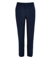 Stretch pantalon grote maat donkerblauw