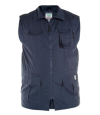 D555 grote maat zomer bodywarmer donkerblauw