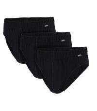 Adamo grote maat slips zwart 3 stuks verpakking