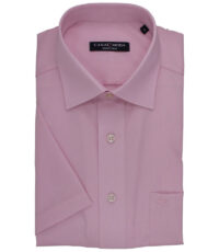 Casa Moda grote maat overhemd korte mouw roze 6XL strijkvrij