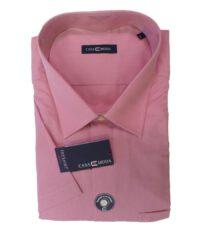 Casa Moda grote maat overhemd kortemouw roze 6XL strijkvrij