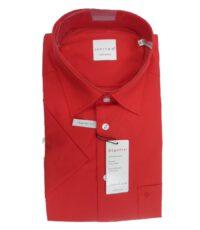 Jupiter overhemd grote maat korte mouw rood strijkvrij