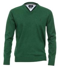 Grote maat Casa Moda v-hals trui groen