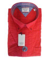 Casa Moda grote maat korte mouw overhemd rood button down