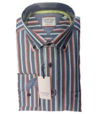 Casa Moda overhemd extra lange mouw gekleurde lengtestreep button down