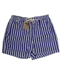 Baileys grote maat zwemshort blauw en witte lengte streep