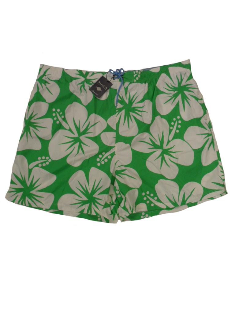 Baileys grote maat zwemshort groen en wit