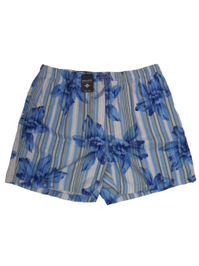 Baileys grote maat zwembroek blauw, grijs en wit