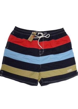 Baileys grote maat zwembroek blauw, rood en beige