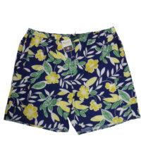 Baileys grote maat zwembroek blauw, geel en groene bloem print