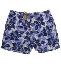 Baileys grote maat zwembroek blauwe bloem print